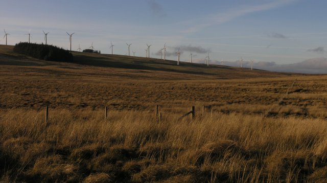 Fence on moorland