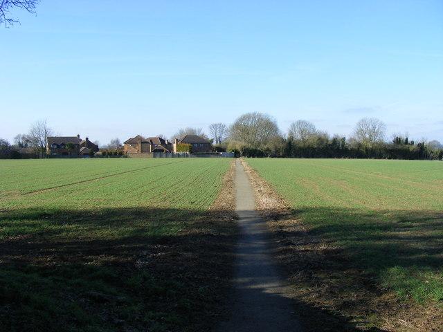 Footpath, looking towards Lower End