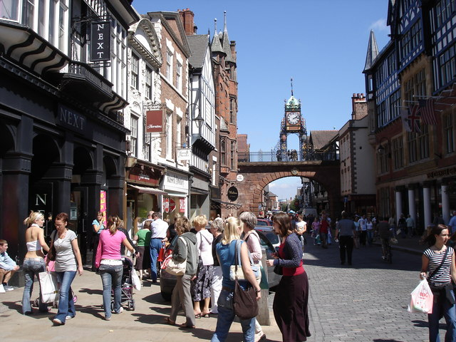 Chester - the Eastgate Clock from Eastgate Street