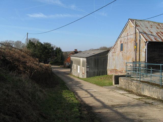 Farm buildings on Strood Farm