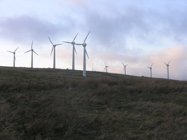 Wind farm on Waun Ddubarthog