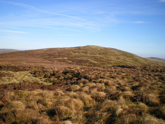 Post Gwyn from the summit of Bryn Gwyn