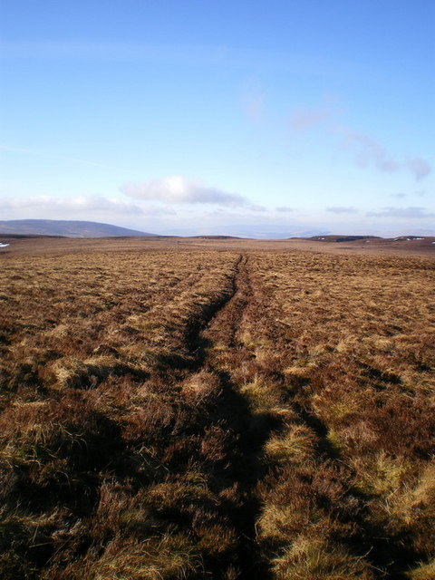 Quad-bike track above Blaen Glaswen