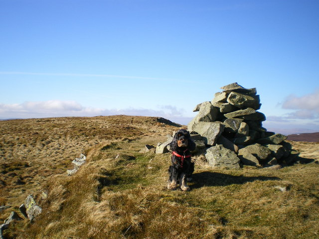 At the summit of Post Gwyn