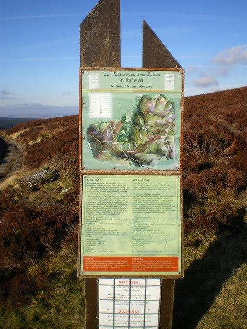Berwyns NNR information sign