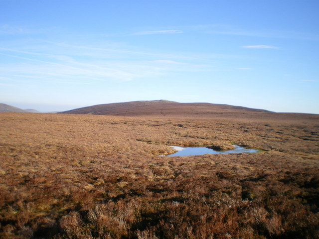 Post Gwyn and the moorland below it