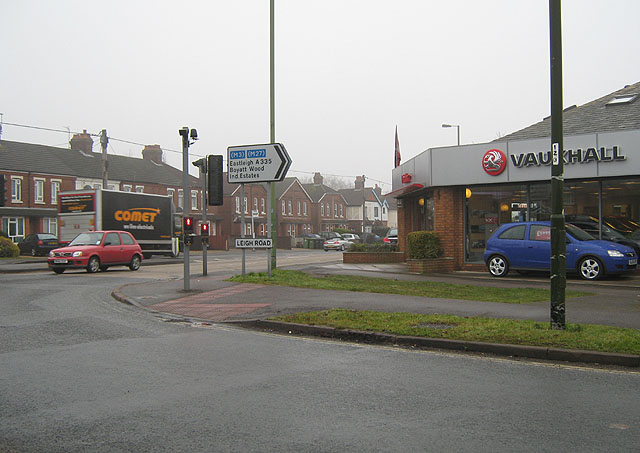 Junction of Leigh Road and Bournemouth Road