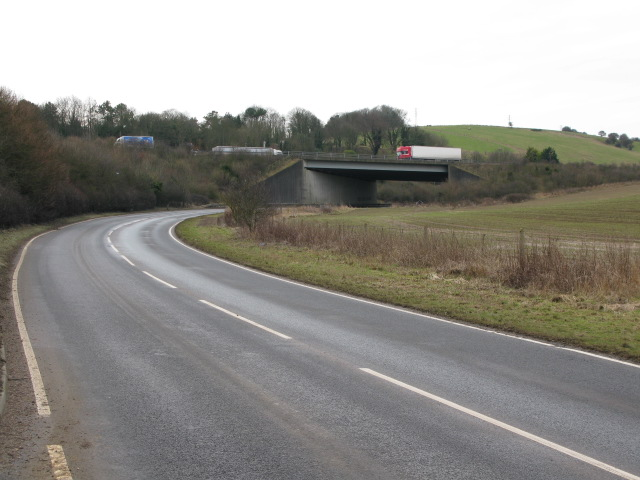 Bridge carrying the A20 over the Alkham Valley Road