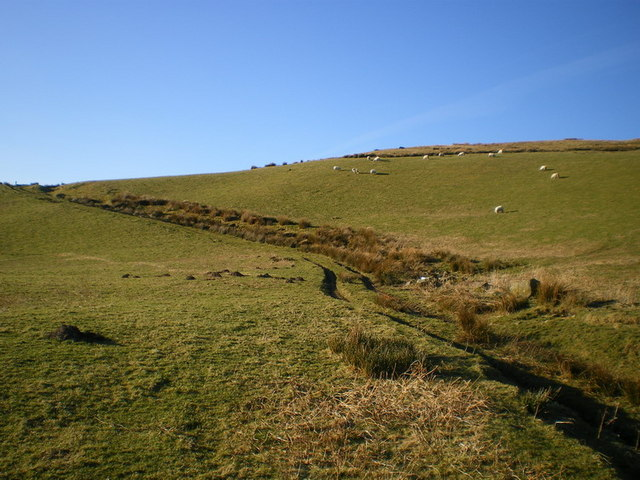 The upper section of the Cwm Rhiwarth bridleway