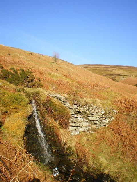 Small waterfall in Cwm Rhiwarth
