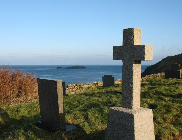 Gravestones at Llanbadrig Churchyard