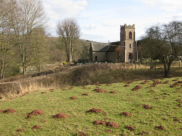 St. Dingat's from Dingestow Castle Mound