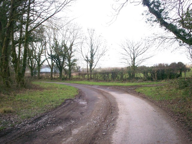 Trenewydd Lane, Llanteg - corner near old quarry