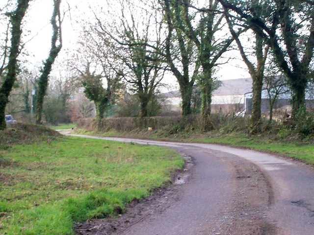 Trenewydd Lane, Llanteg - with farm in distance