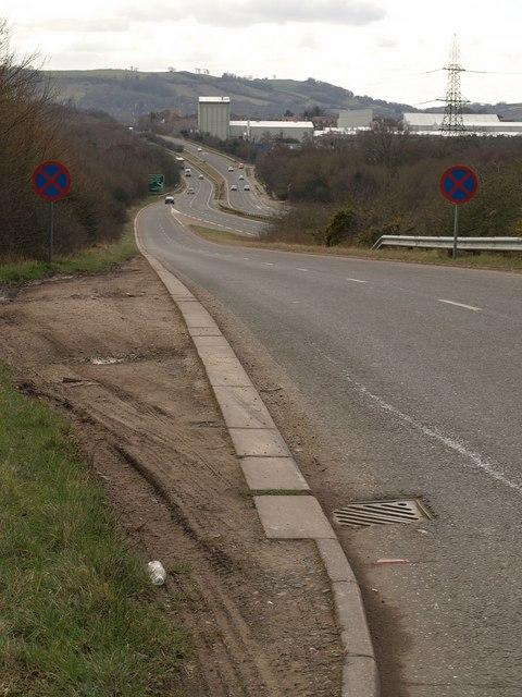 Slip road onto A38, Chudleigh Knighton