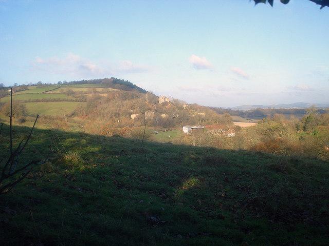 Farmland west of Wigmore