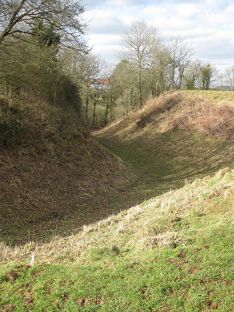 Ditch at Dingestow Castle Mound