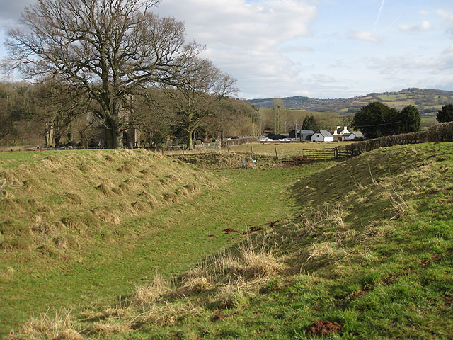 View of the village from the earthworks