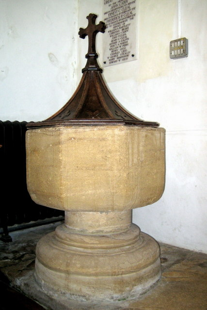 The font - St Mary's Church South Perrott