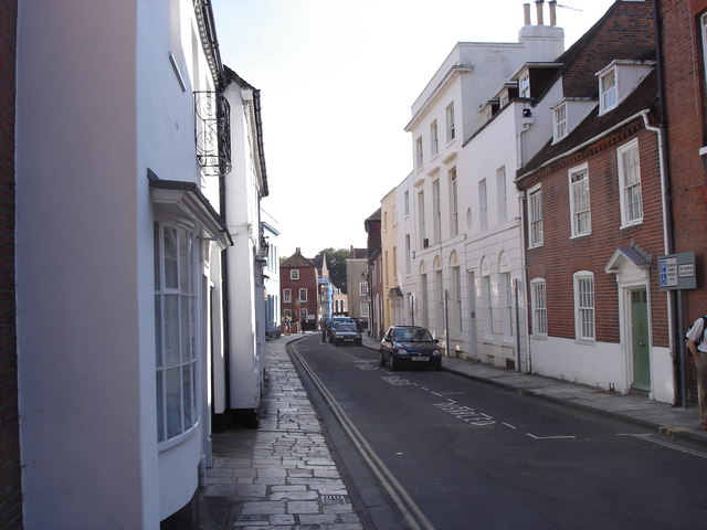 Chichester - view along North Pallant from East Street