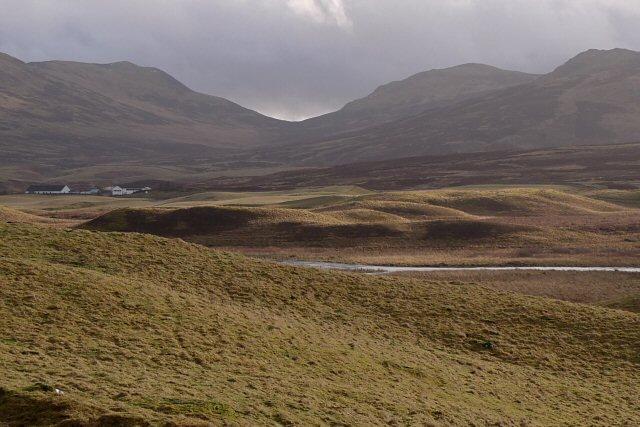 Hummocky moraine beside the River Braan