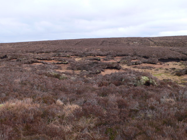 Peat haggs to the east of Llyn Conwy.