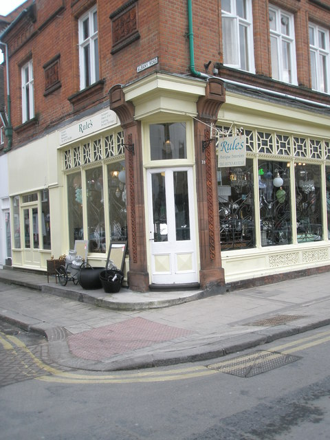 Antiques Shop on the corner of St Leonard's and Albany Roads