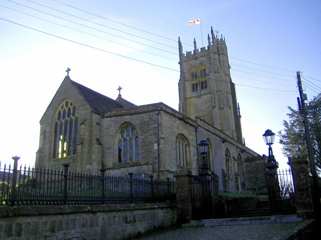 St Mary's Beaminster on a winter afternoon