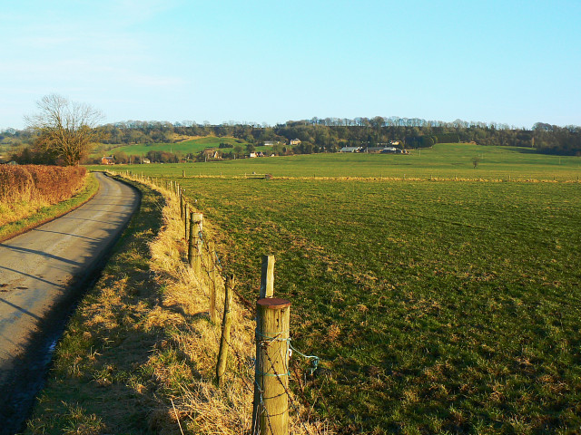 Farmland west of Clevancy