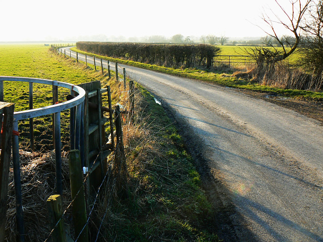 The road towards Hilmarton, west of Clevancy