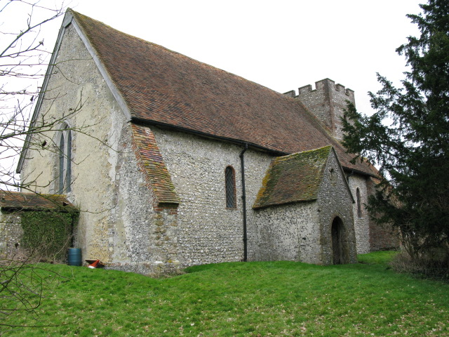 View of St Bartholomew's church, Waltham