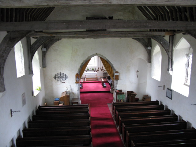 The interior of St Bartholomew's church, Waltham