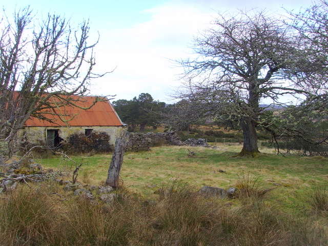 Abandoned croft near Acharry Mur