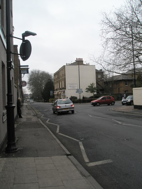 Looking westwards along Clarence Road
