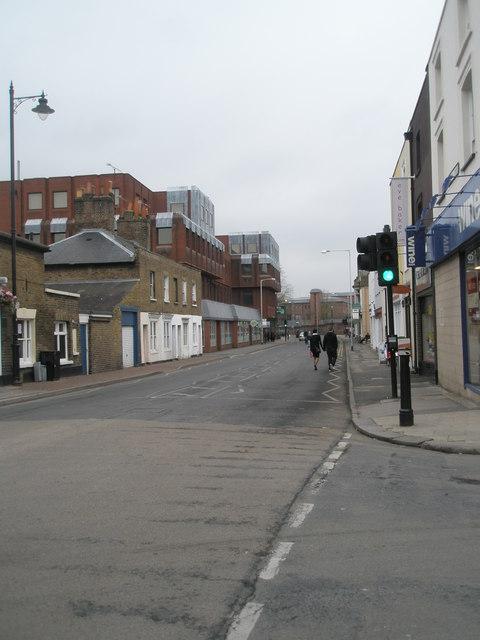 Looking eastwards along Victoria Street