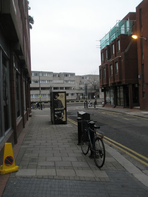 Looking down Oxford Road East towards Charles Street