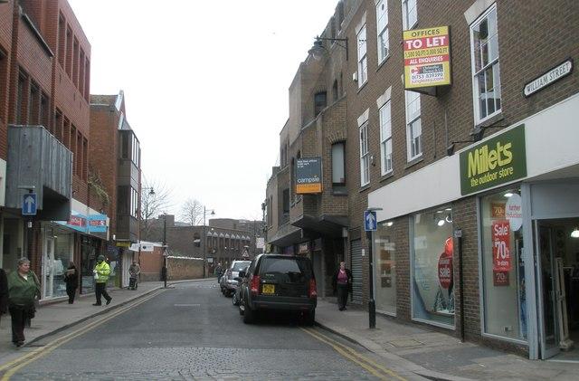 Looking along William Street