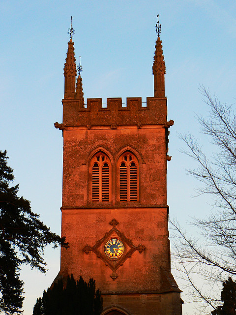 The church tower in Hilmarton