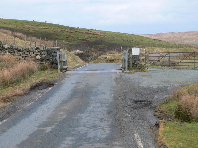 Cattle grid on the Ffestiniog road