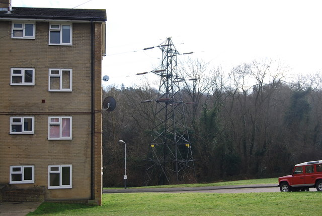 Electricity pylon by Kemble Flats, Greggs Wood Rd