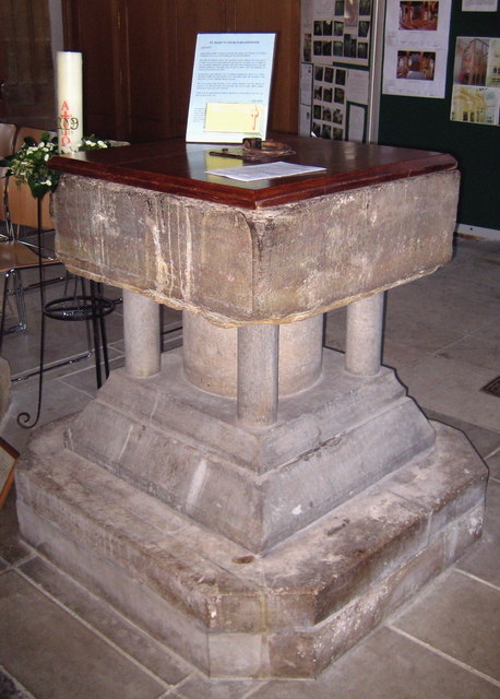 The font - St Mary's Beaminster