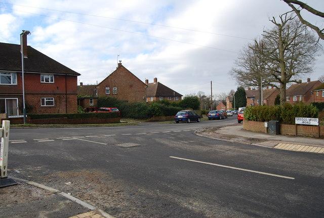 Greggs Wood Rd, Sherwood Rd junction