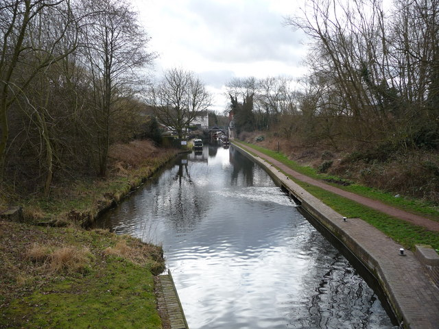 Looking south from Compton Lock