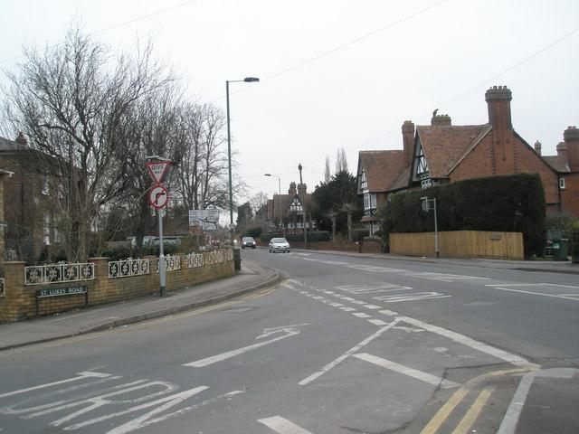 Junction of  St Luke's and  Straight Roads