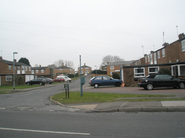 Looking from St Luke's Road into William Ellis Close