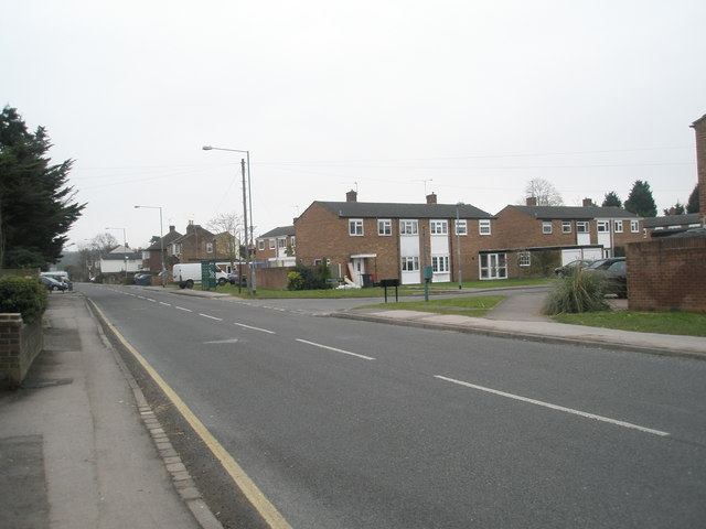 Looking towards the junction of William Ellis Close and St Luke's Road