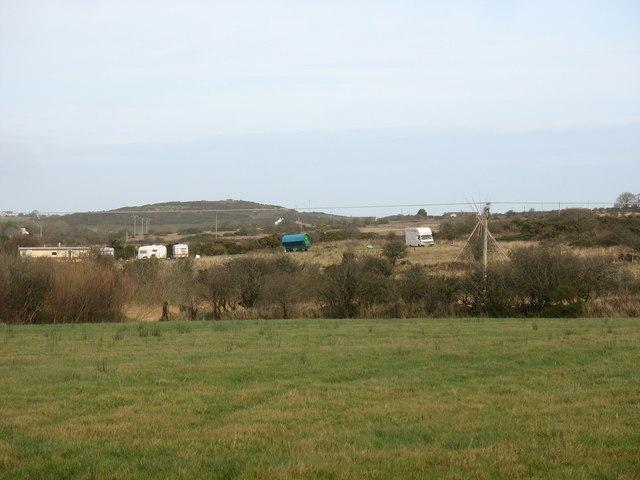 A travellers' encampment south of Mynydd Parys