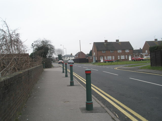 Looking from St Peter's Road towards St Peter's Close