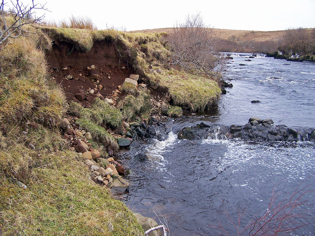 River Snizort, bank erosion