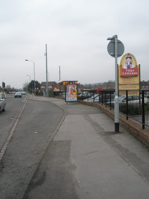 Bus stop by The Toby carvery in Straight Road